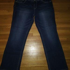 Plus sized Blue Jeans